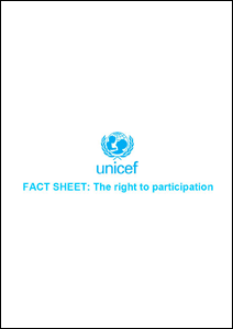 Fact Sheet: The Right to Participate (UNICEF)